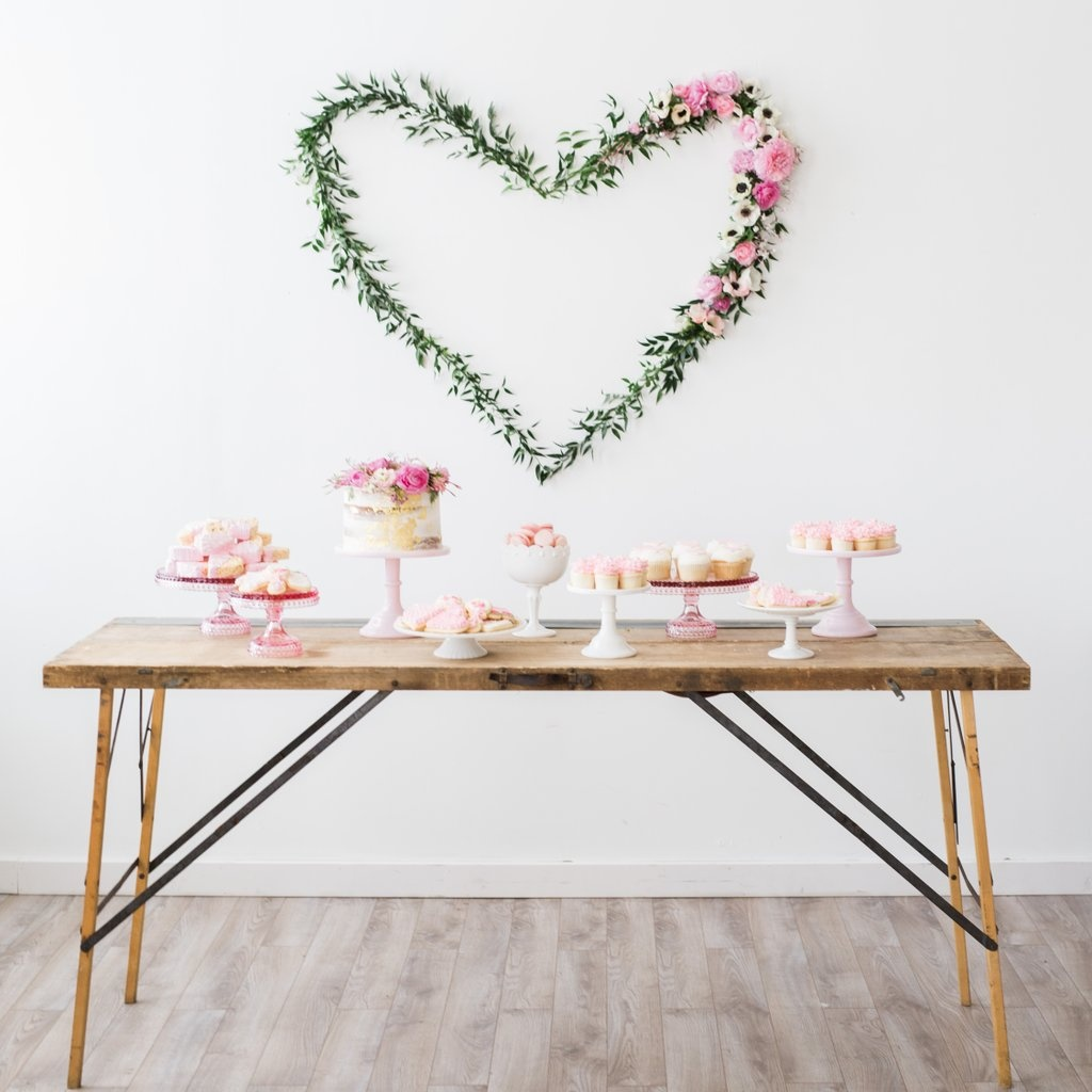 Hearts And Love Themed Bridal Shower