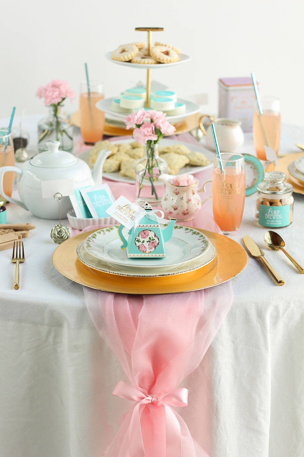 Love Is Brewing A Gorgeous Tea Party Bridal Shower Beau