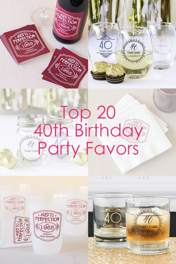 Top 20 40th Birthday Party Favors
