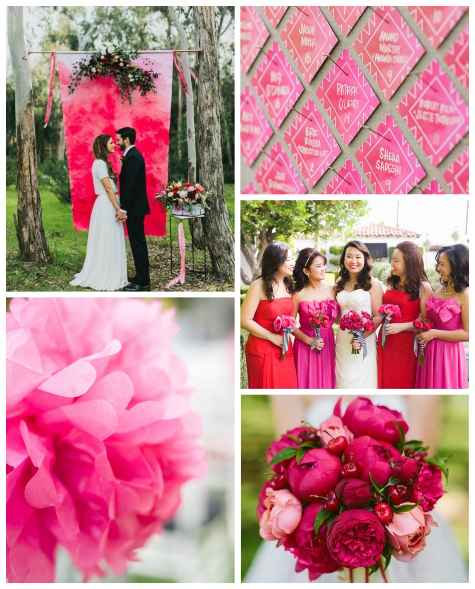 Wedding Color Of The Month Shades Of Pink Beau Coup Blog