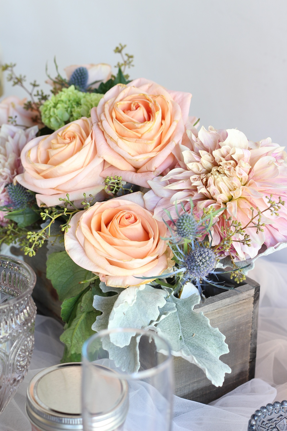 Ideas And Inspiration For A Steel Blue And Peach Wedding