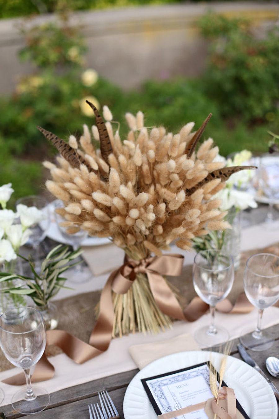 wheat centerpiece as a thanksgiving centerpiece