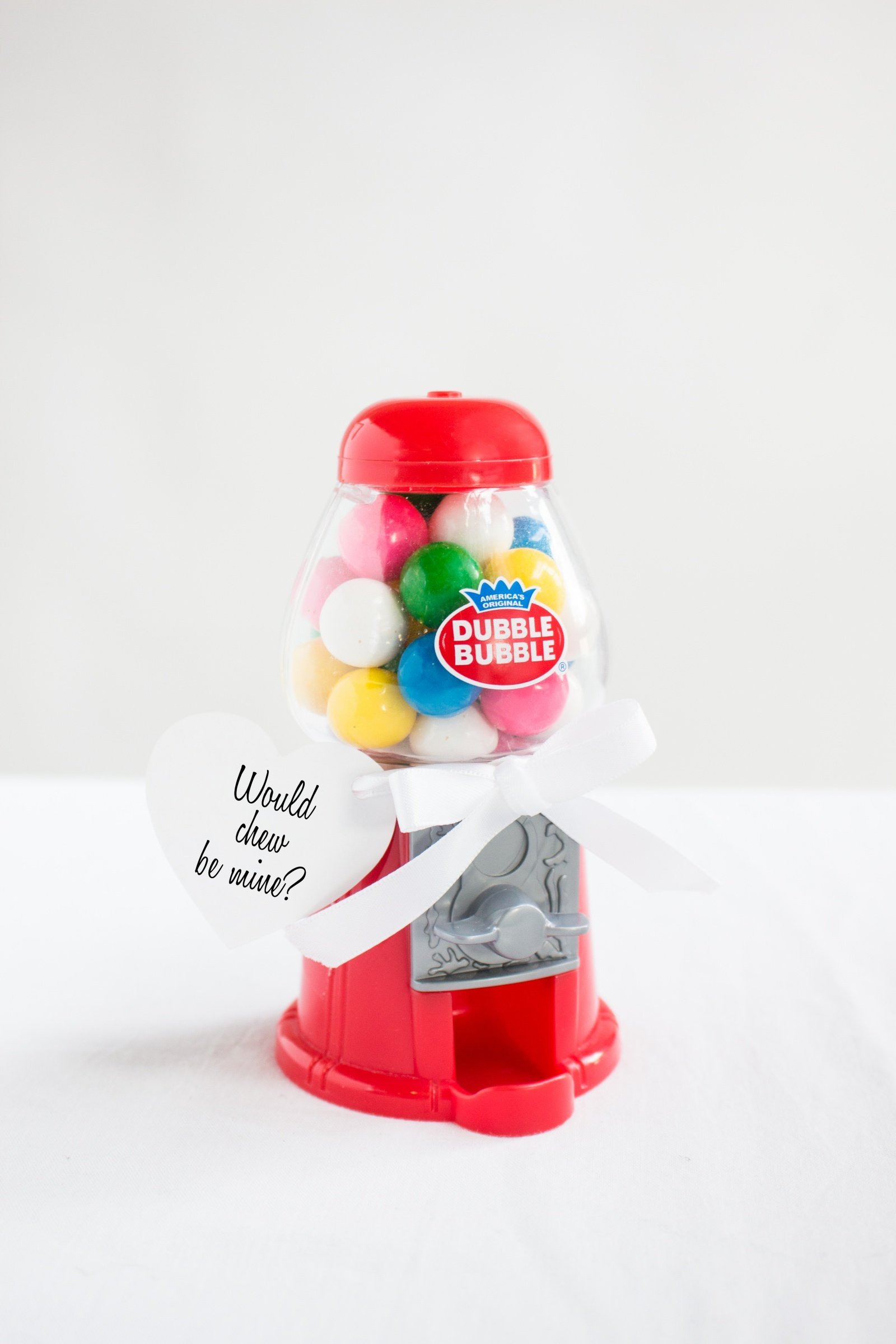Would Chew Be Mine? Easy DIY Gumball Machine Valentines -Beau-coup Blog