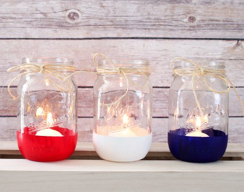 Diy Color Blocked Mason Jars For 4th Of July Beau Coup Blog