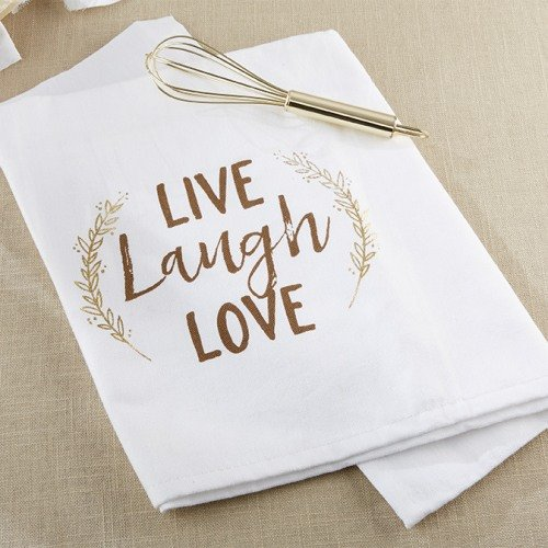 Live, Laugh, Love Tea Towel & Whisk