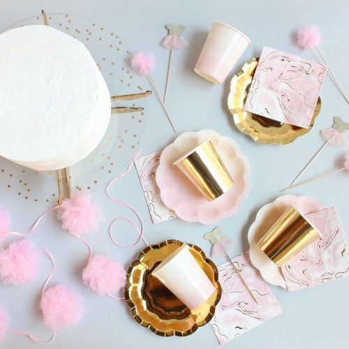 Pink & Gold Dessert for 12 Party Kit
