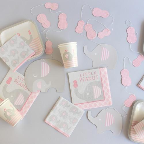 Pink Little Peanut Baby Shower Kit
