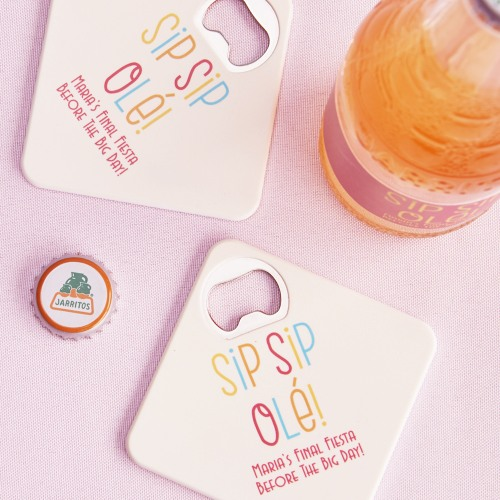 Personalized Sip Sip Ole Coaster Bottle Openers