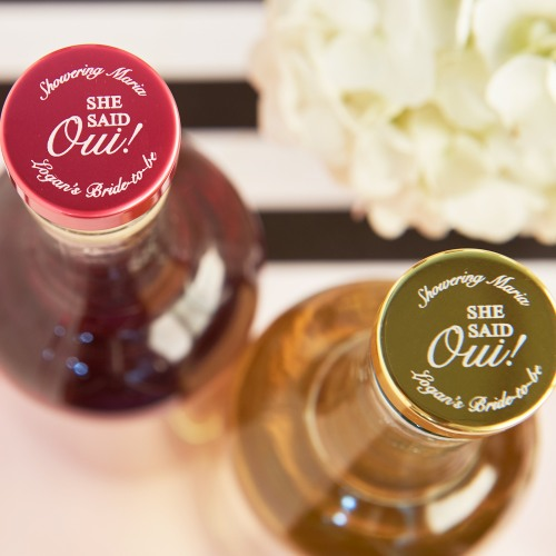 Personalized She Said Oui Aluminum Top Bottle Stopper