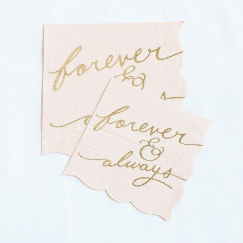 Forever & Always Blush Napkins