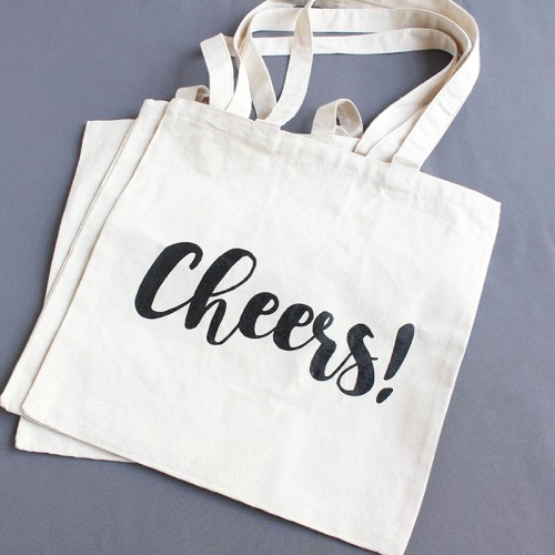 Cheers Canvas Shopping Tote
