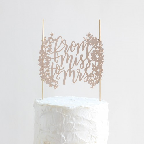 From Miss to Mrs. Cake Topper