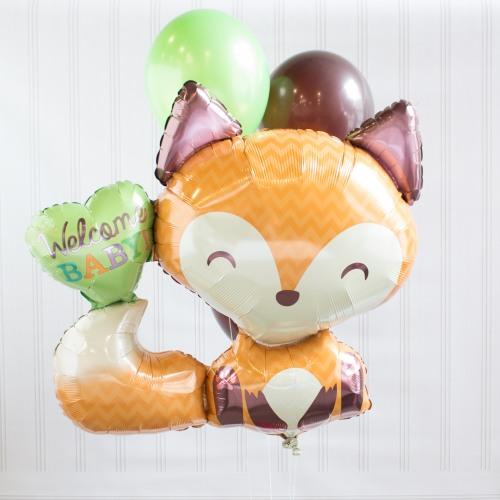 Fox Baby Shower Balloon Decor Kit