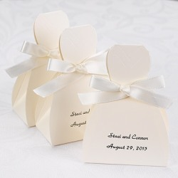 Personalized Tuxedo and Wedding Gown Favor Boxes