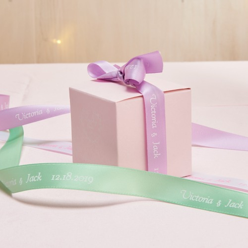 Personalized Ribbon - Double-Faced Satin Happily Ever After