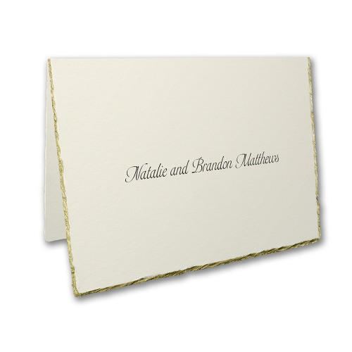 Personalized Gold Edge Thank You Notes