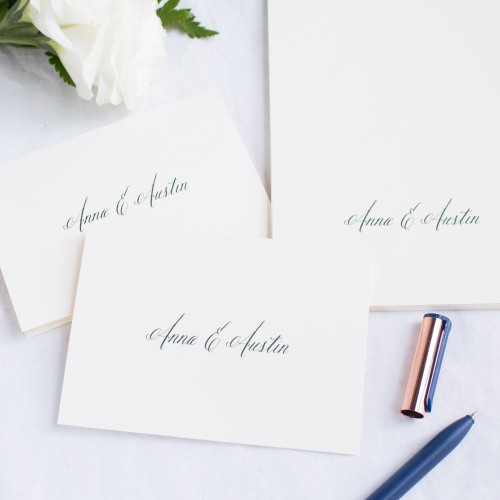 Personalized Sophisticated Type Thank You Notes