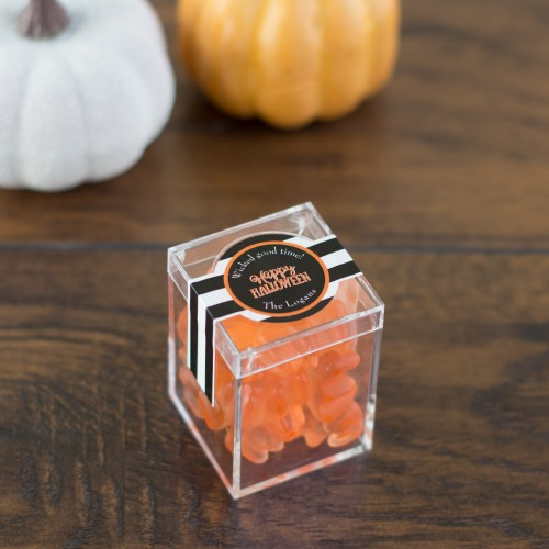 halloween champagne gummy bear boxes