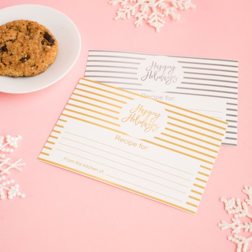 christmas holiday recipe cards