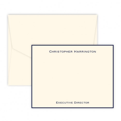 Personalized Executive Notecard with Border