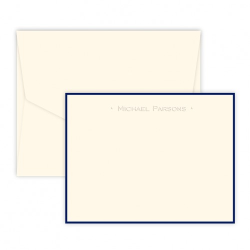 Personalized Modern Notecard with Border