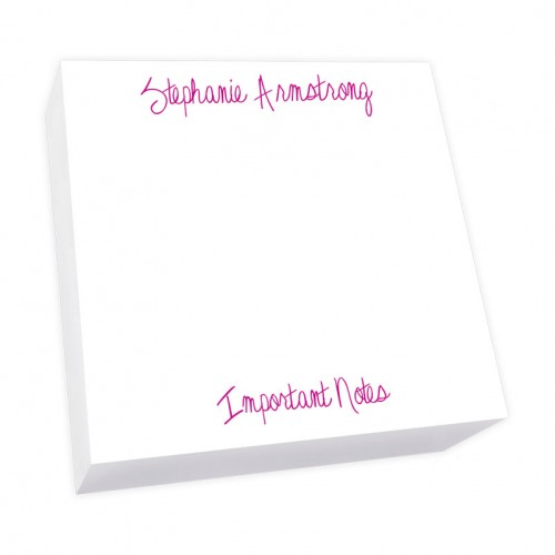 Personalized Highland Square Notepad 6x6
