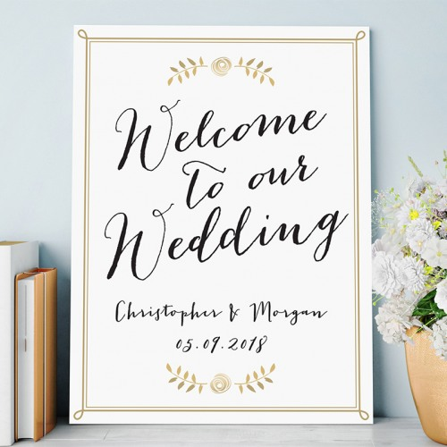 Personalized Script Welcome Poster
