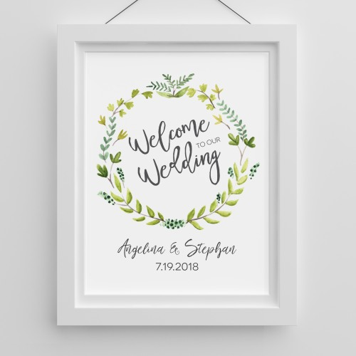 Personalized Botanical Welcome Poster
