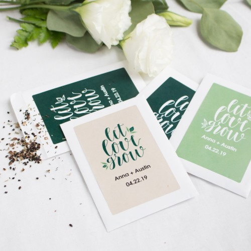 Personalized Let Love Grow Seed Packets