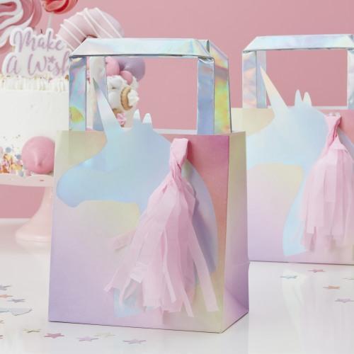 Iridescent Unicorn Favor Bags