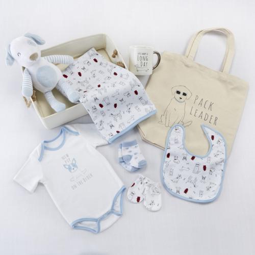 New Pup Baby Gift Basket