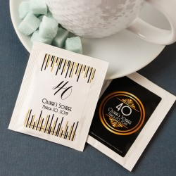 Personalized Birthday Party Tea Bags