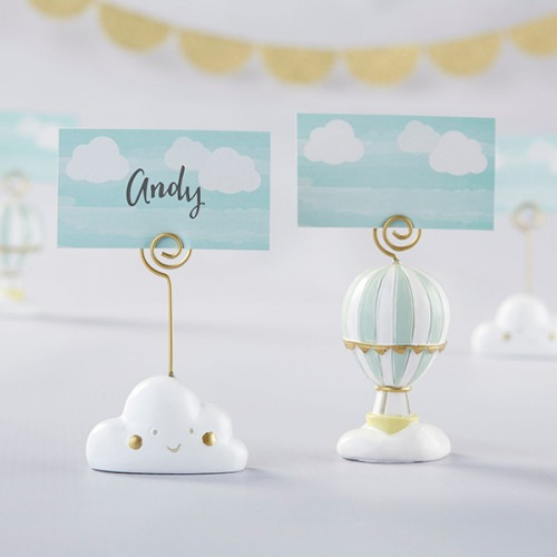Hot Air Balloon and Cloud Place Card Holders
