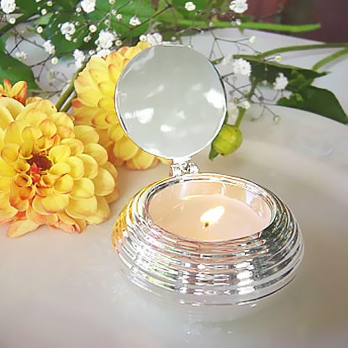 Silver Round Travel Candle