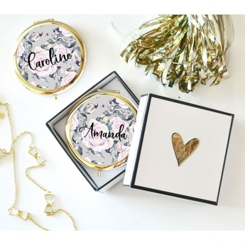 Personalized Rose Garden Compacts