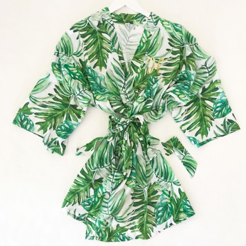 Personalized Palm Leaf Robe