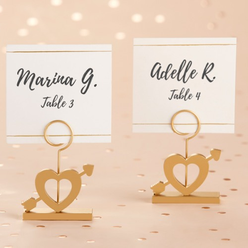 Gold Cupid's Arrow Place Card Holder