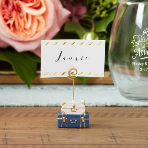 Suitcase Place Card Holder - One Card Holder