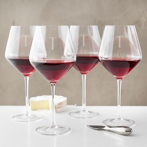 Personalized Red Wine Estate Glasses