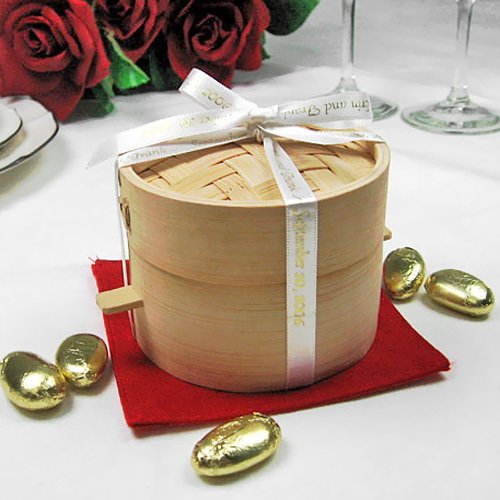Mini Bamboo Steamers Asian Wedding Favors Chinese Favors