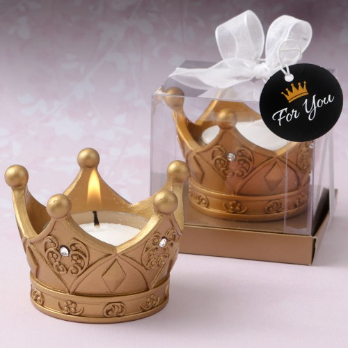 Gold Crown Candle Holders