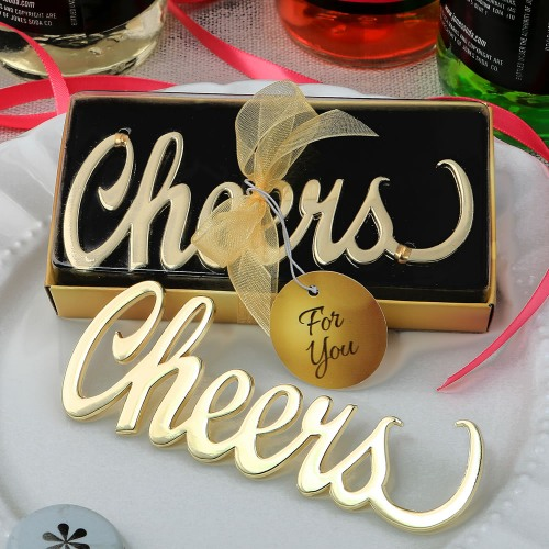 Cheers Script Bottle Opener