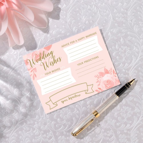 Bridal Shower Wishes Cards