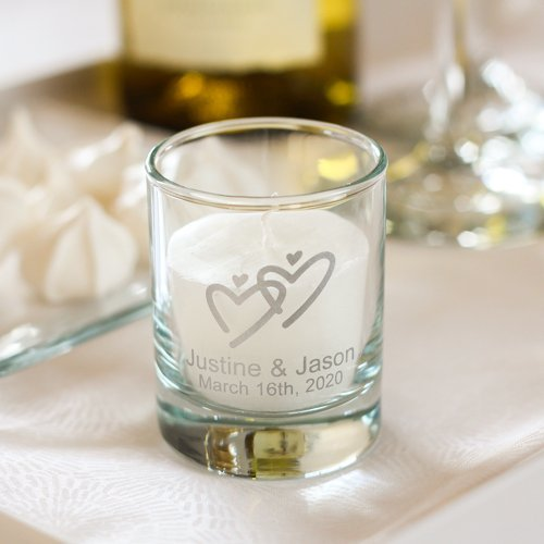 Personalized Wedding Votive Candle Holder