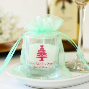 Personalized Wedding Votive Candle Holders