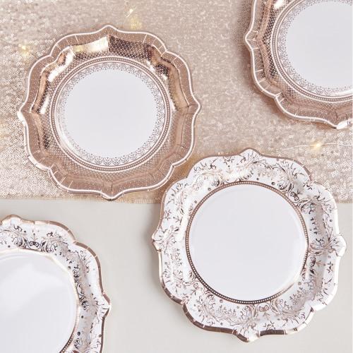 Rose Gold Porcelain Just Married
