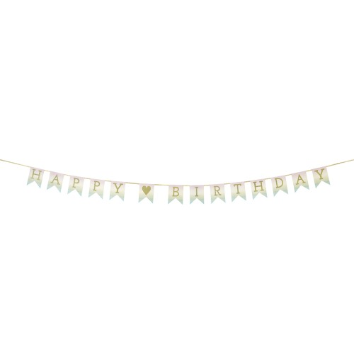 Pastels Ombre Happy Birthday Garland