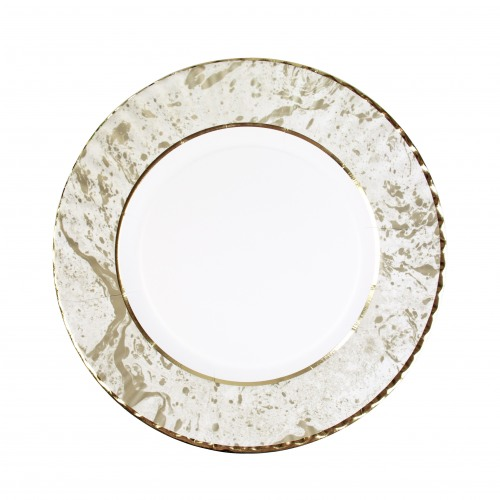 Gold Marble Plates