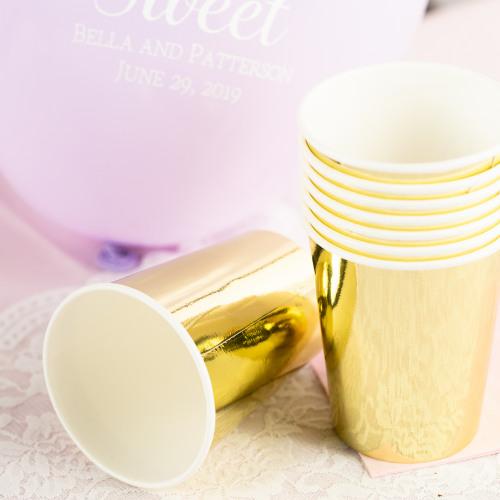 Modern Metallics Gold Paper Cups