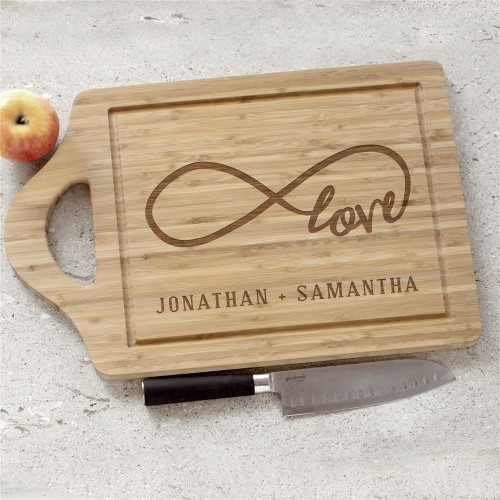 Engraved Love Infinity Cutting Board